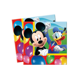 Serviettes Mickey Colours