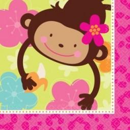 Serviettes Monkey Love