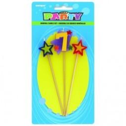 Bougies Numéro 7 star
