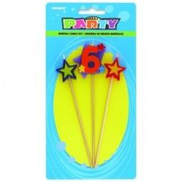 Bougies Numéro 6 star