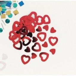Confetti cœurs rouges